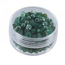Assort. Rocailles matte & shiny 20g Green