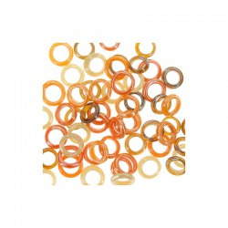 Assort. Glass rings 25g Brown