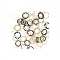 Assort. Gass rings 25g Black & White