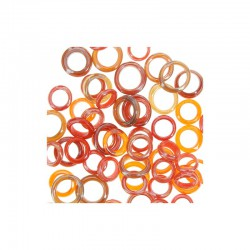 Assort. Glass rings 25g  Red