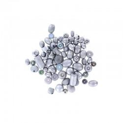 Assort. Metallic matte beads 40g Silver