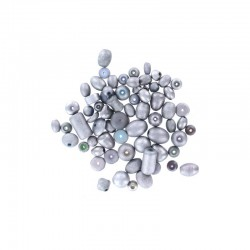 Assort. Metallic matte beads 40g Silver