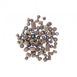 Assort. Metallic mat beads 40g Copper