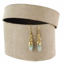 Gem pendant with natural stone light blue