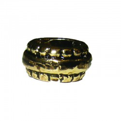 Beaded ring 12x8mm° hole 4mm antique brass 6pcs