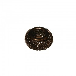 Wire mesh ring 17mm, hole 8mm brown, x5pcs