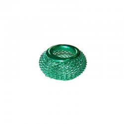 Wire mesh ring 17mm, hole 8mm mint, x5pcs
