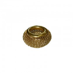 Wire mesh ring 17mm, hole 8mm gold, x5pcs