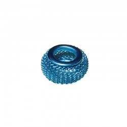 Wire mesh ring 17mm, hole 8mm turquoise, x5pcs