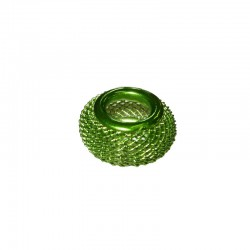 Wire mesh ring 17mm, hole 8mm lime green, x5pcs