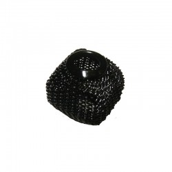 Wire mesh oval 19x16mm, hole 6mm black, x4pcs