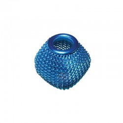 Wire mesh oval 19x16mm, hole 6mm turquoise, x4pcs