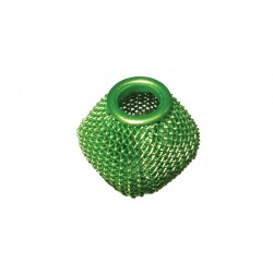 Wire mesh oval 19x16mm, hole 6mm lime green, x4pcs