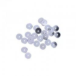 Metal washer 6mm rhodium 25pcs