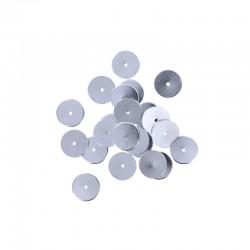 Metal washer 10mm rhodium 25pcs