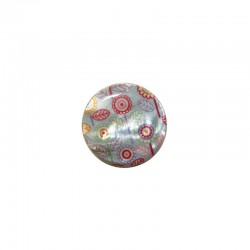 Printed round shell 15mm Klimt flowers x 12pcs