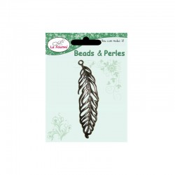 Card large feather 73x20mm