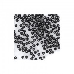 Round pearls 4mm 150 pieces black