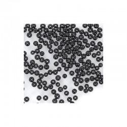 Round pearls 6mm 100 pieces black