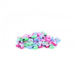 Bag of 50 polymer butterflies 15x4mm assorted