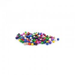 Assort. Colour wooden beads 5mm 15g