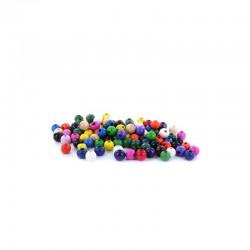 Assort. Colour wooden beads 8mm 15g