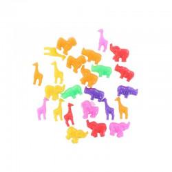 Plastic beads savanna animals 100g