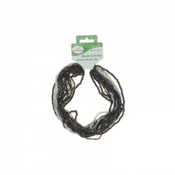 Assort. Rocailles matte & shiny 100g Black/Grey