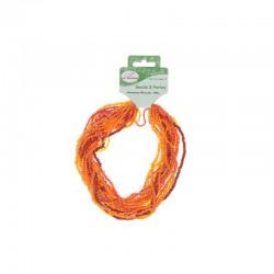 Assort. Rocailles matte & shiny 100g Red/Orange