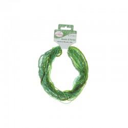 Assort. Rocailles matte & shiny 100g Green
