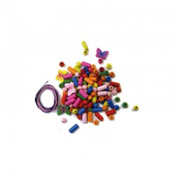 Children wood bead kit 30g. Butterfly