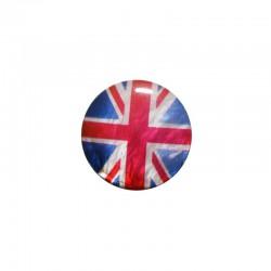 Cabochon nacre 24mm drapeau Union jack x 4pcs