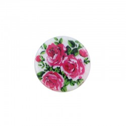 Cabochon nacre 24mm x 4pcs roses