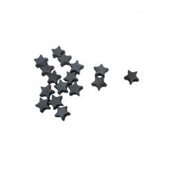 Hematite star 6mm string 20cm 33pcs