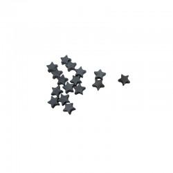 Hematite star 8mm string 20cm 25pcs