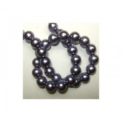 Pearl chain 10mm x 80cm Lila (2 pcs x 80 beads)