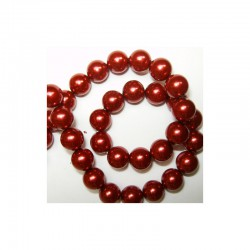 Pearl chain 10mm x 80cm Red (2 pcs x 80 beads)