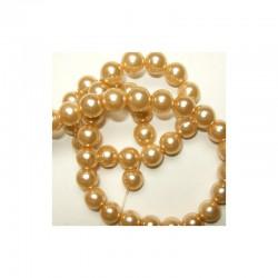 Pearl Chain 10mm x 80cm Sand (2 pcs x 80 beads)