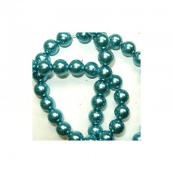 Pearl chain 10mm x 80cm Turquoise (2 pcs x 80 beads)