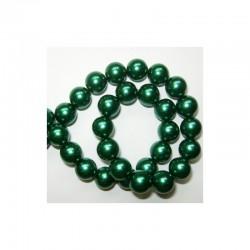 Pearl chain 10mm x 80cm Hot green (2 pcs x 80 beads)