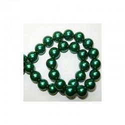Pearl chain 10mm x 80cm Hot green (2 pcs x 80 beads)