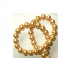 Pearl chain 10mm 80cm Antique gold (2 pcs x 80 beads)