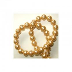 Pearl chain 10mm 80cm Antique gold (2 pcs x 80 beads)