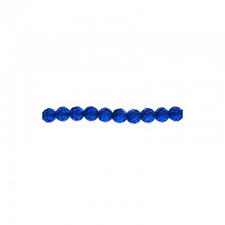 String facetted beads 10mm 34pcs royal blue