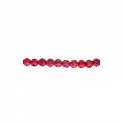 String facetted beads 10mm 34pcs hot pink AB