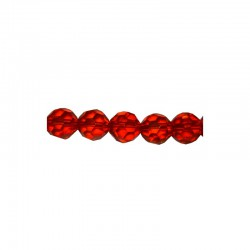 String facetted beads 16mm x22pcs red