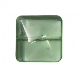String square 20x20mm 17pcs pale green