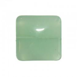 String square 20x20mm 17pcs light green opal