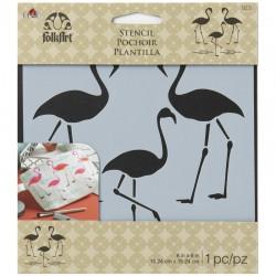Stencil Flamingo, 15.24 x 15.24 cm