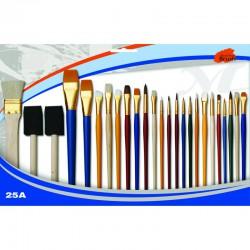 Set of 25 creative paintbrushes